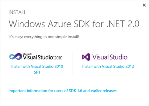 Windows Azure SDK download
