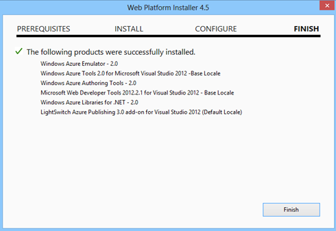 Windows Azure SDK installation