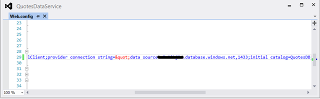 SQL Azure connection string